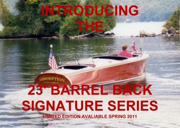 23 foot barrel backs